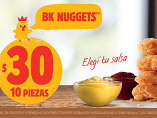 "Burger King <font color=""red"">NUGGETS</font>"